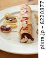 クレープ パンケーキ 茶色の写真 8220877