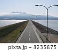 諫早湾干拓堤防道路(普賢岳側) 8235875