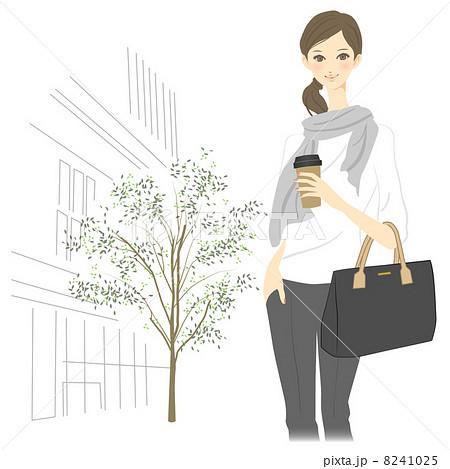 都会で働く女性のイラスト素材 8241025 Pixta