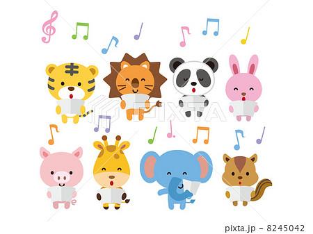 合唱をする動物たちのイラスト素材 8245042 Pixta