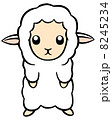 未年 ひつじ年 羊のイラスト 8245234