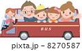 バスツアー 4人家族 ベクターのイラスト 8270587