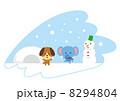 雪遊び 8294804