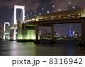 ライトアップ 吊り橋 レインボーブリッジの写真 8316942