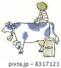 牛とミルク 8317121