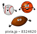 Baseball, basketball and rugby balls 8324620