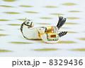年賀状素材 午 年賀素材の写真 8329436
