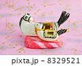 年賀状素材 午 年賀素材の写真 8329521