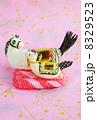 年賀状素材 午 年賀素材の写真 8329523