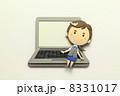 ノートパソコン OL パソコンの写真 8331017