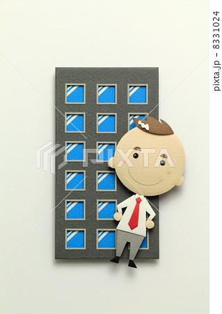 ペーパークラフトのサラリーマン 8331024