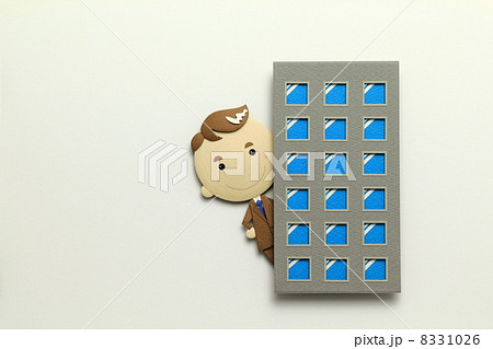 ペーパークラフトのサラリーマン 8331026