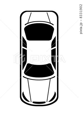 上から見た車