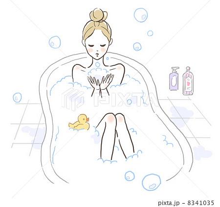 バスタイムを楽しむ女の子のイラスト素材 8341035 Pixta