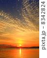 滋賀県大津市 琵琶湖の夜明け 8342824