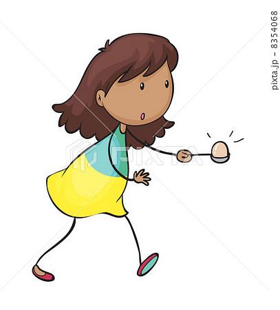 egg and spoon raceのイラスト素材 8354068 pixta