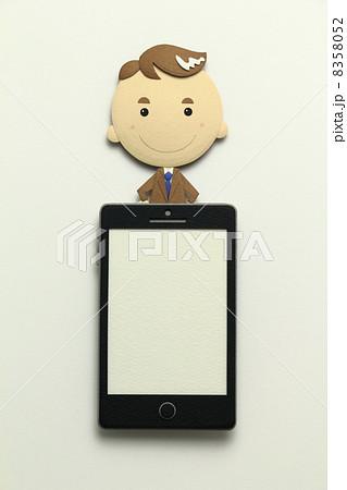 ペーパークラフトのスマートフォン 8358052