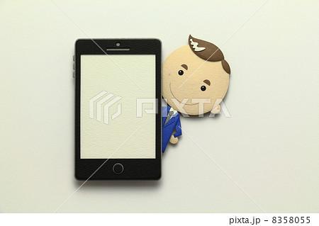 ペーパークラフトのスマートフォン 8358055