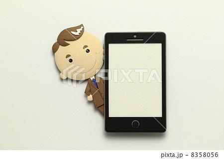 ペーパークラフトのスマートフォン 8358056