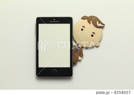 ペーパークラフトのスマートフォン 8358057