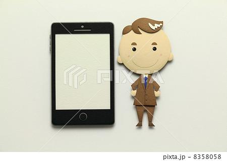 ペーパークラフトのスマートフォン 8358058