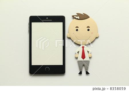 ペーパークラフトのスマートフォン 8358059