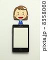 携帯電話 OL タブレットの写真 8358060