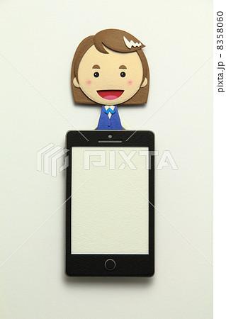 ペーパークラフトのスマートフォン 8358060