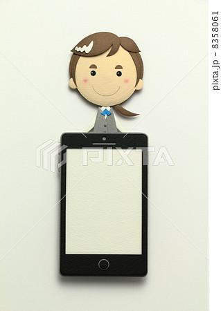 ペーパークラフトのスマートフォン 8358061