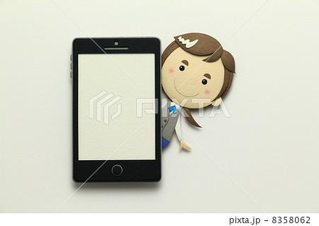 ペーパークラフトのスマートフォン 8358062