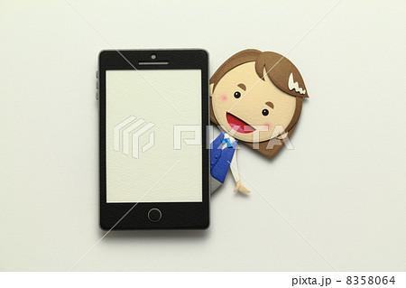 ペーパークラフトのスマートフォン 8358064