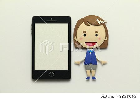 ペーパークラフトのスマートフォン 8358065