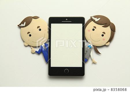 ペーパークラフトのスマートフォン 8358068