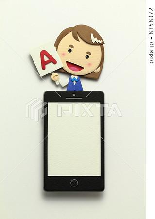 ペーパークラフトのスマートフォン 8358072