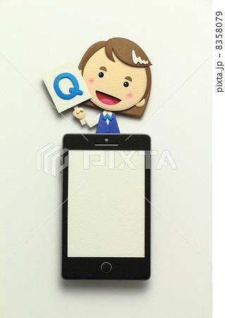 ペーパークラフトのスマートフォン 8358079