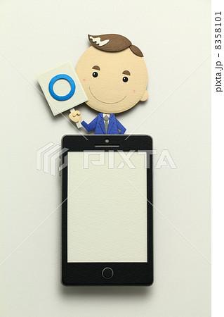 ペーパークラフトのスマートフォン 8358101