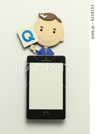 ペーパークラフトのスマートフォン 8358103