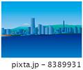 横浜みなとみらいと富士山 8389931