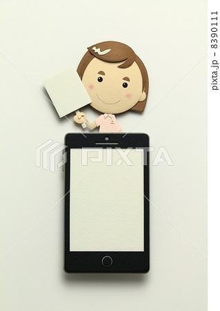 ペーパークラフトのスマートフォン 8390111
