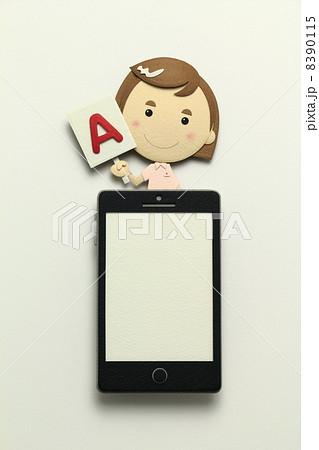 ペーパークラフトのスマートフォン 8390115
