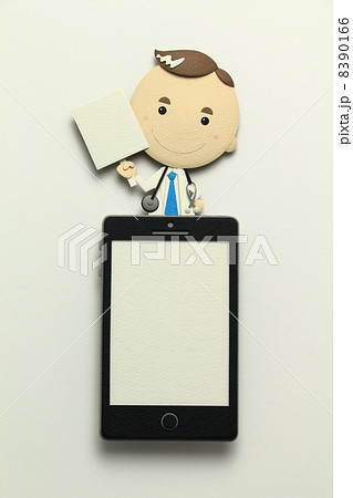 ペーパークラフトのスマートフォン 8390166