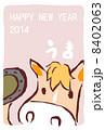 午 馬 年賀状のイラスト 8402063