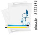 グラフィック バックグランド 白いのイラスト 8422161