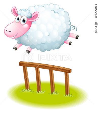 A sheep jumpingのイラスト素材 [8422803] - PIXTA