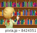 A girl selecting books 8424351