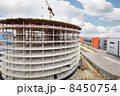 MOSCOW - SEP 22: Business center under construction in Sheremety 8450754