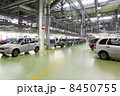 TOGLIATTI - SEPTEMBER 30: Hall with cars Lada Kalina at factory 8450755
