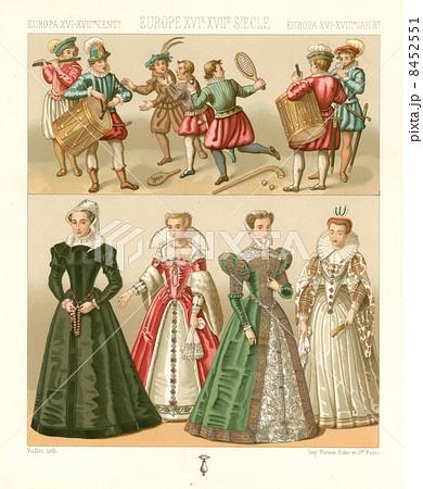 アンティーク・イラスト「16-17世紀ヨーロッパの衣装」 8452551