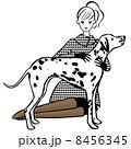 ベクター 犬 女性のイラスト 8456345