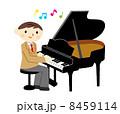 グランドピアノ 演奏 音楽のイラスト 8459114